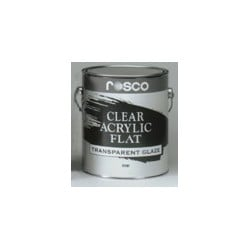 Rosco Acrylic Glazes - 5580 Clear Flat - 5 Gallon
