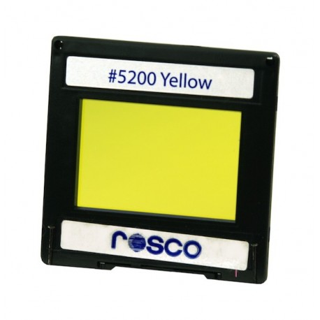 Rosco Permacolor - 13.5in. Round Dichroic Glass - 35200 Yellow