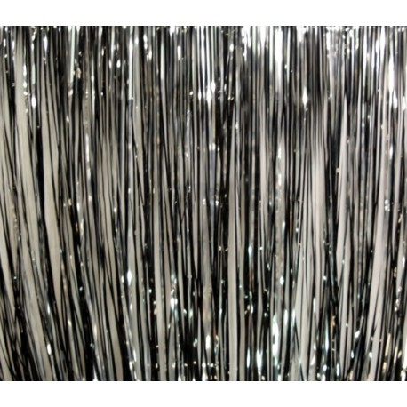 Rosco Slit Drape Black/Silver 16'