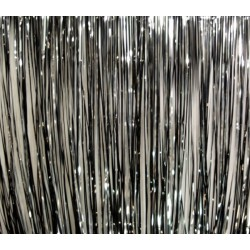 Rosco Slit Drape Black/Silver 24'