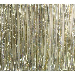 Rosco Slit Drape Silver/Gold/Diffraction 8'