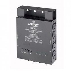 Leviton D4DMX 4 Channel Dimmer Pack 1200-2400W 5-Pin