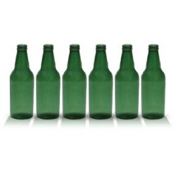 City Theatrical 7 3/4-inch Short Neck Beer Bottles (Green)