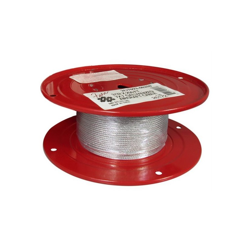 Aircraft Cable Accessories : In galvanized aircraft cable ft reel