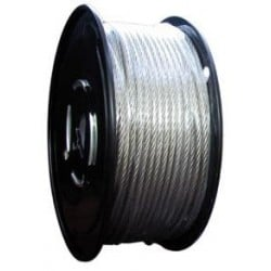 3/32in. Stainless Steel Aircraft Cable - 7 x 7 - 1000ft/reel