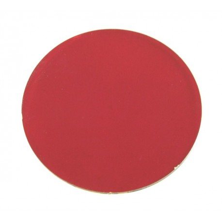 Rosco Permacolor - 2in. Round Dichroic Glass - 36100 Flame Red
