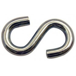 3/16in. x 1.5in. Zinc Plated S-Hook - 100/bag