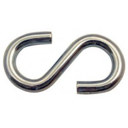 1/4in. x 2.25in. Zinc Plated S-Hook - 100/bag