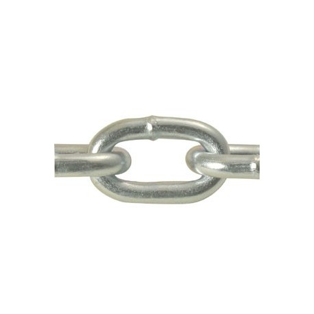 2 Straight Link Machine Chain - Zinc Plated - 100ft/reel