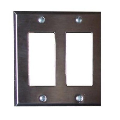 Pathway 2-Gang Faceplate - Black White or Stainless Steel Finish