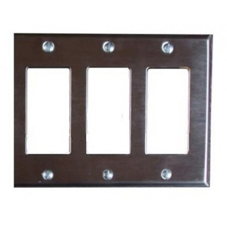 Pathway 3-Gang Faceplate - Black or Stainless Steel Finishes