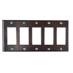 Pathway 5-Gang Faceplate - Black or Stainless Steel Finishes