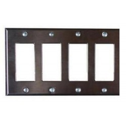 Pathway 4-Gang Faceplate - Black or Stainless Steel Finishes