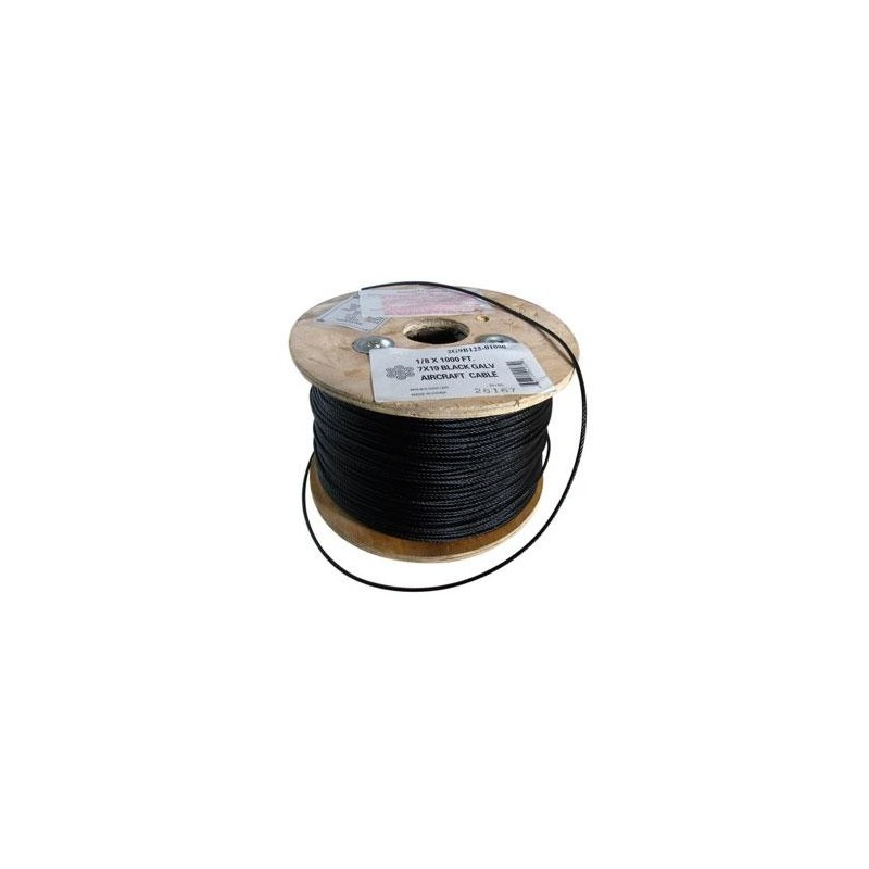 5 16in Black Aircraft Cable 7 X 19 5000ft Reel