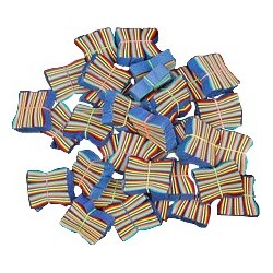 Flutter FETTI Wrapped and Banded Confetti - Tissue - 48 Stacks