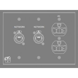 ETC NET / NET / AC Plug-In Station - 3 Gang (ECPB NET/NET/AC)