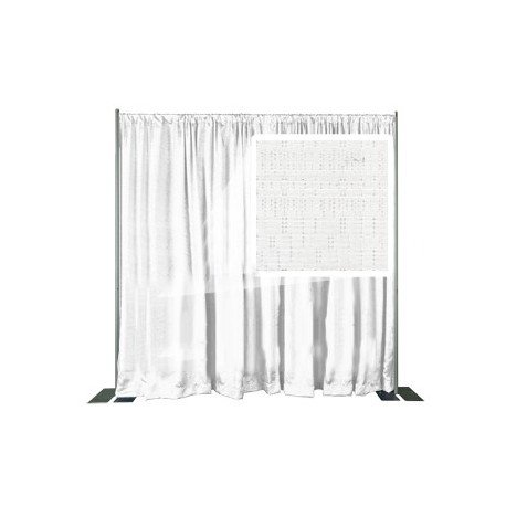 Snow White Banjo Cloth Panel - IFR- 48in. W x 34in. H