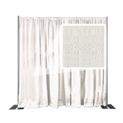 White Banjo Cloth Panel - IFR- 144in. W x 34in. H