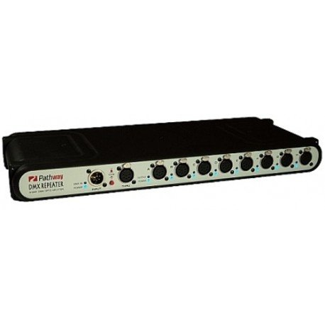 Pathway 8-Port DMX Repeater with Front 3-pin XLR