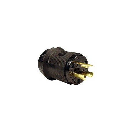 Hubbell Insulgrip L6-20 Twistlock - Male Plug - Black