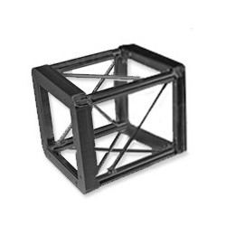 Applied NN 12in. x 12in. Lite Duty Box Truss 6-Way Corner - Black