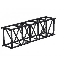 Applied NN 20.5in. x 30in. Spigoted Box Truss - 8 ft. - Black