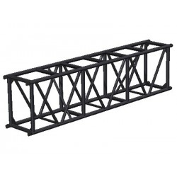 Applied NN 20.5in. x 30in. Spigoted Box Truss - 10 ft. - Black
