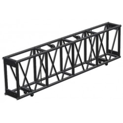 Applied NN 15in. x 30in. x 93in. Single Hung Pre-Rigged Truss - Black