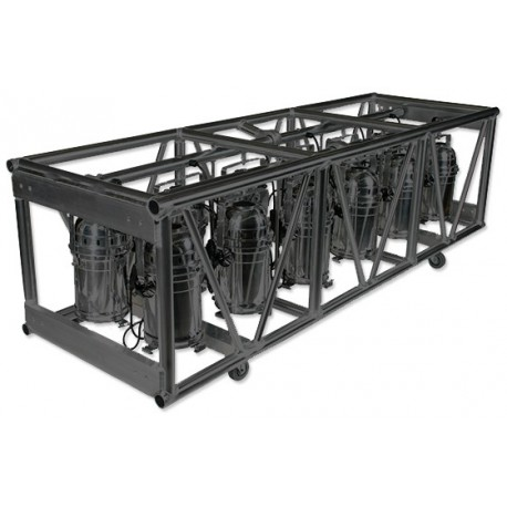 Applied NN 30in  x 26in  x 93in  Double Hung Pre-Rigged Truss - Black -  Stage Lighting Store