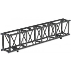 Applied NN 15in. x 23.5in. x 123in. Single Hung Spigoted Pre-Rigged Truss - Black