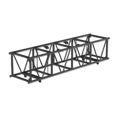Applied NN 30in x 26in x 96in. Double Hung Spigoted Pre-Rigged Truss - Black