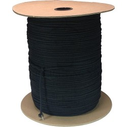 Black Unglazed Tie Line - 1/8in. - 3000' Reel