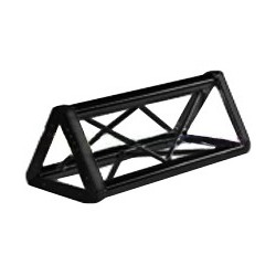 Applied NN 12in. Euro Style Tri-Truss - 2.5ft - Black
