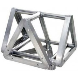 Applied NN 14in Euro Style Tri-Truss 3-Way Adapter to Vertical - Black