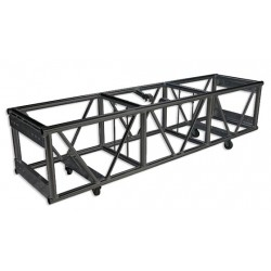 Applied NN 24in. x 20.5in. x 93in. Source Four Double Hung Pre-Rigged Truss - Black