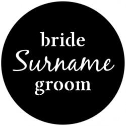 Rosco Steel Wedding Gobo 001 - Classic Names
