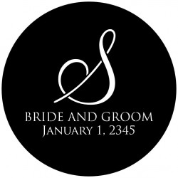 Rosco Steel Wedding Gobo 003 - Elegant Monogram