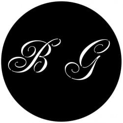 Rosco Steel Wedding Gobo 005 - BG Monogram