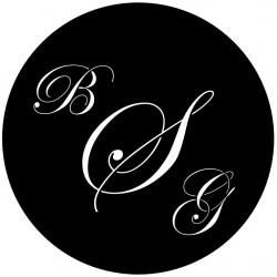 Rosco Steel Wedding Gobo 007 - BGS Monogram