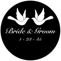 Rosco Steel Wedding Gobo 009 - Doves
