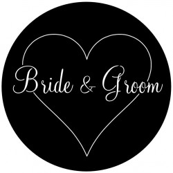 Rosco Steel Wedding Gobo 010 - Classic Heart