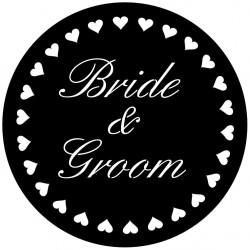 Rosco Steel Wedding Gobo 011 - Silver-Screen Hearts