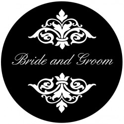 Rosco Steel Wedding Gobo 012 - Pretty B&G