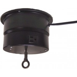 CT 110E8 Ceiling Turner with Rotating Electrical Outlet - 2 RPM - 40 lb. Capacity