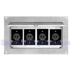 Altman Flush Wall Box - Four Parallel Blade / Edison Connectors