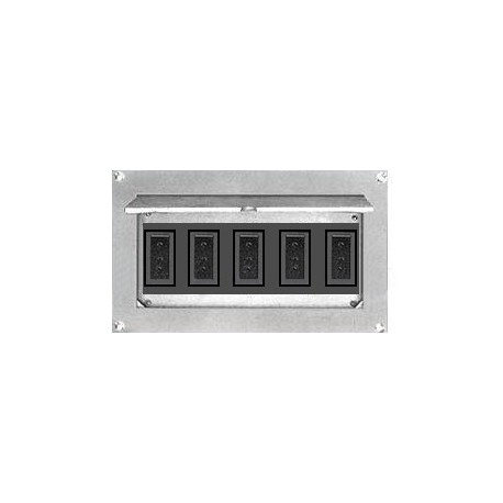 Altman Flush Wall Box - Five Grounded Pin Connectors