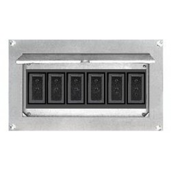 Altman Flush Wall Box - Six Grounded Pin Connectors
