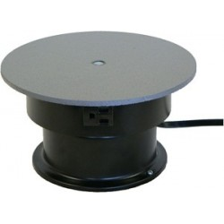 Table top floor units with rotating electrical outlets for Motorized turntable heavy duty