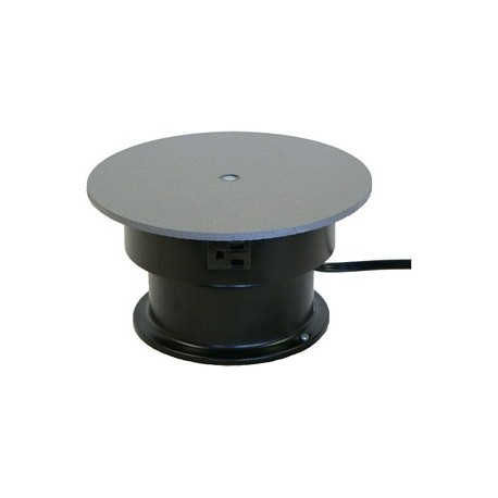 8in. Turntable with Rotating Electrical Outlet - 4 Amp - 3 RPM - 25 lbs Capacity