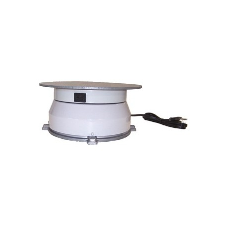 12in. Turntable w/ Rotating Electrical Outlet - 8 Amp - 2 RPM - 150 lbs Capacity